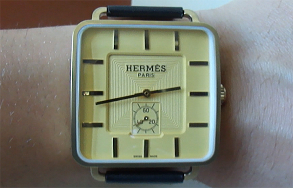 Hermes Replica Watch Available In Yellow Gold Plated Yellow Dial