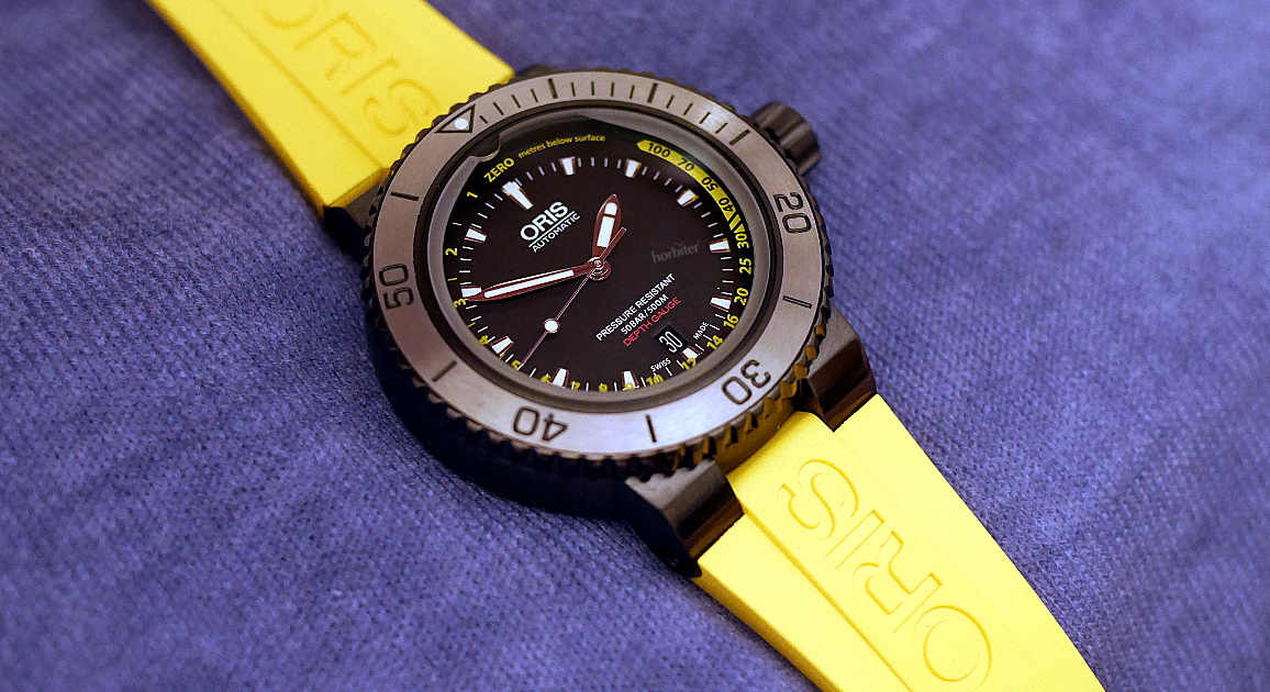 Replica Oris Aquis Depth Gauge - 30 minutes on the wrist