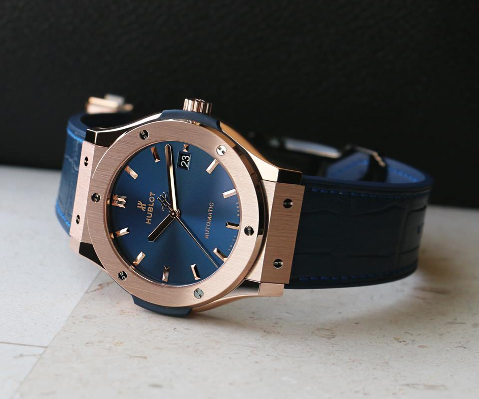 The Hublot Classic Fusion King Gold Blue Replica Watch Review