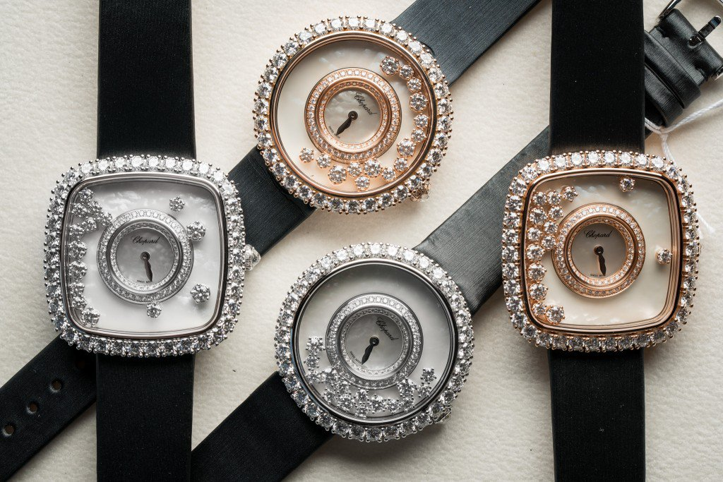Closer Look At The New Fancy Chopard Happy Diamonds Replica Watch Collection For Ladies