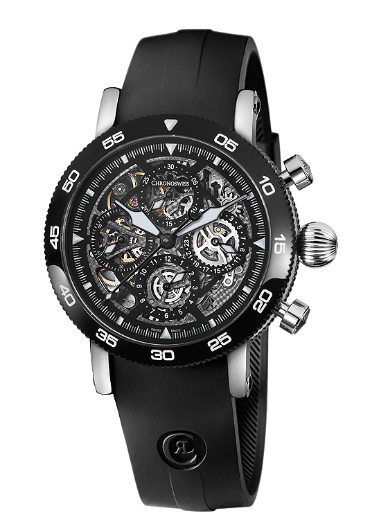 Show You The Chronoswiss Timemaster Chronograph Skeleton Mens Replica