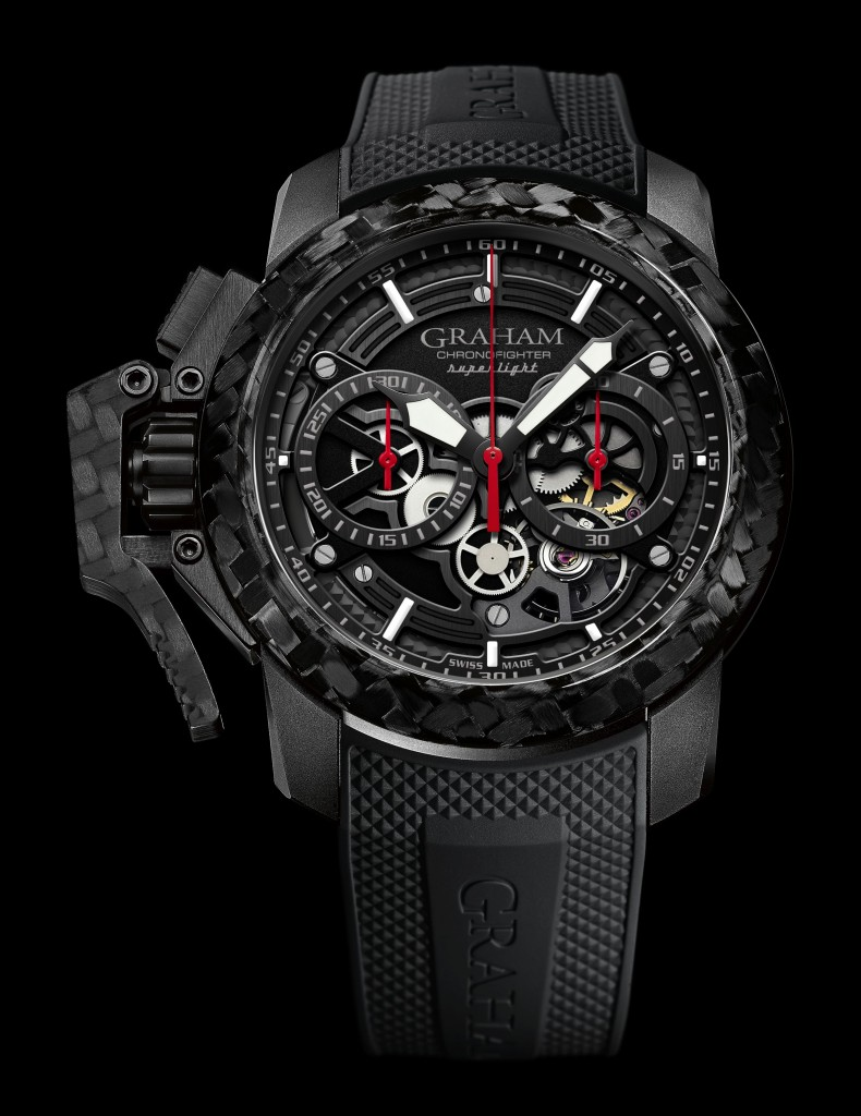 Take A Look At The GRAHAM Chronofighter Superlight Carbon Skeleton Replica