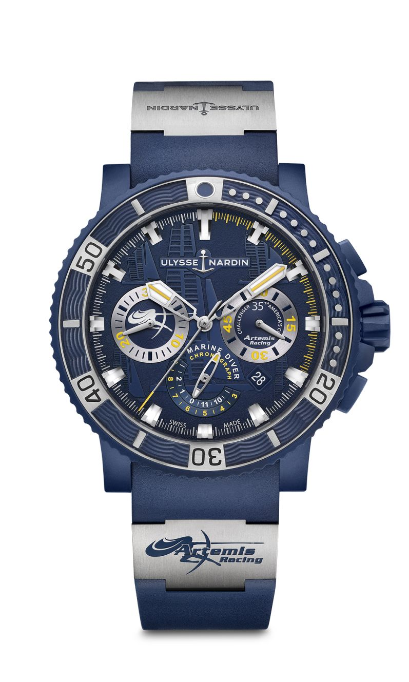A Elegant Timepiece Of Ulysse Nardin Diver Chronograph Artemis Racing Replica