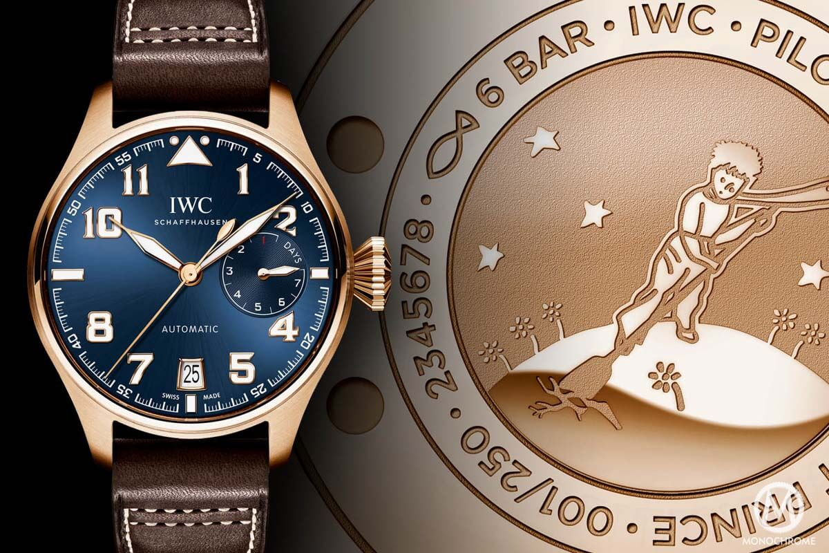 """Hands-on With The Masculine, Popular IWC Big Pilot Edition """"Le Petit Prince"""" Replica Watch"""