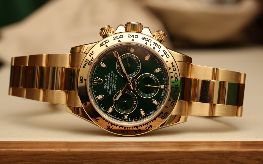 Meet The Unique, Historical Rolex Cosmograph Daytona 116508 Green Dial 18k Yellow Gold Replica Watch