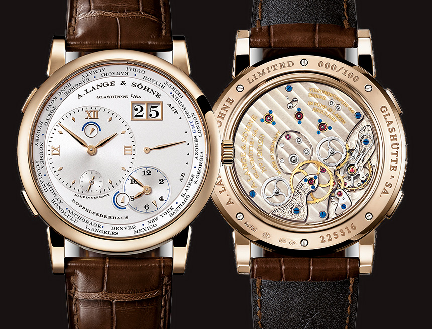 A. Lange & Söhne Lange 1 Time Zone With Gold Case Replica