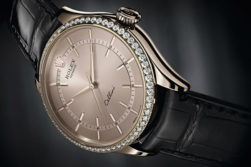 The Everose Gold Cases Of Rolex Cellini Time Replica